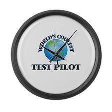 Test Pilot Large Wall Clock