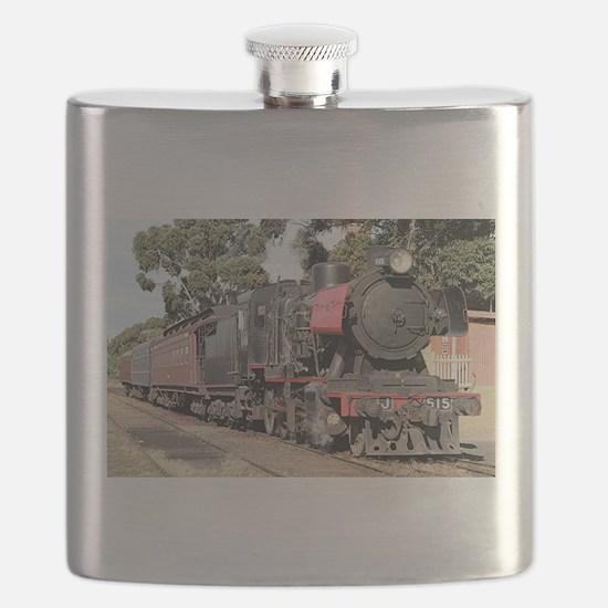 Goldfields steam locomotive, Victoria, Austr Flask