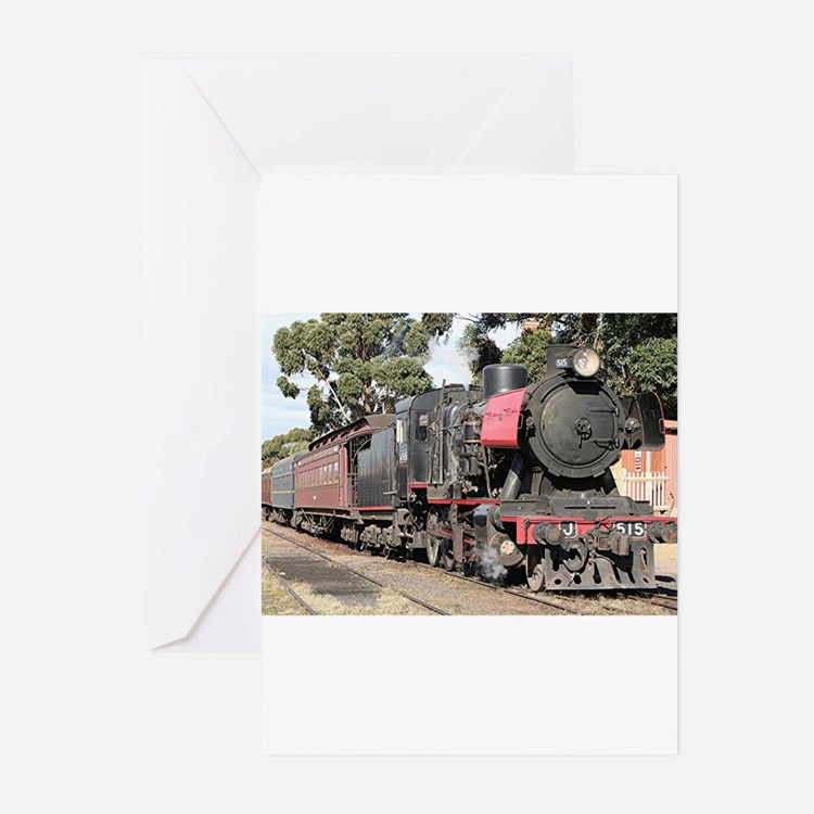 Goldfields steam locomotive, Victor Greeting Cards