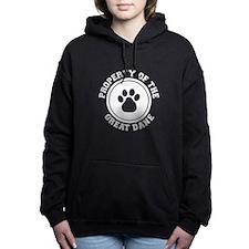 dg-greatdaneB.png Women's Hooded Sweatshirt