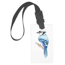 Watercolor Blue Jay Bird Nature Luggage Tag