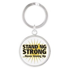 Childhood Cancer Strong Round Keychain