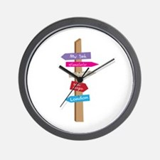 City Directions Wall Clock