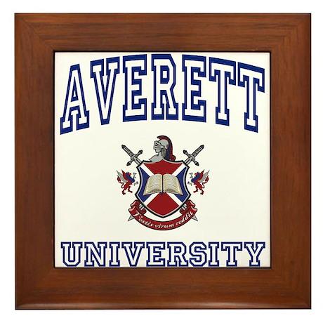 AVERETT University Framed Tile