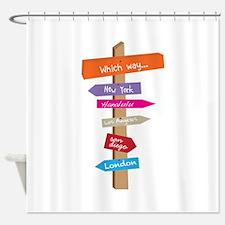 Which Way Shower Curtain