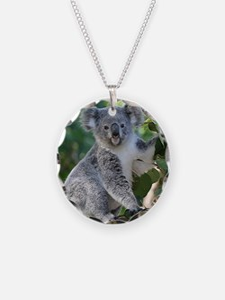 Cute koala Necklace Circle Charm