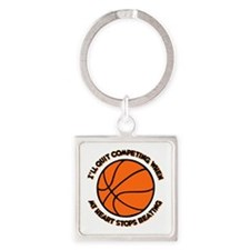 QUIT BASKETBALL Square Keychain