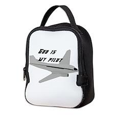God is my pilot Neoprene Lunch Bag