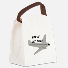 God is my pilot Canvas Lunch Bag