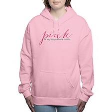 pink Women's Hooded Sweatshirt