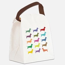 Colorful Dachshunds Canvas Lunch Bag