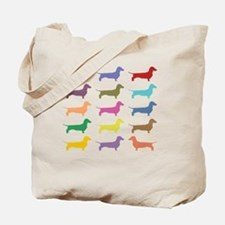 Colorful Dachshunds Tote Bag