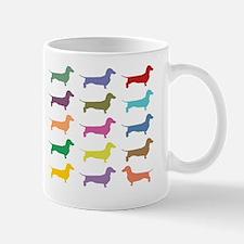 Colorful Dachshunds Mug