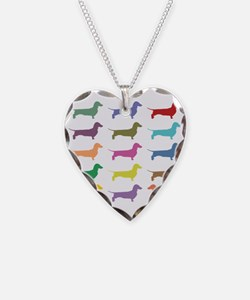 Colorful Dachshunds Necklace