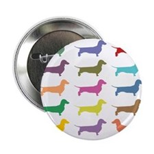 "Colorful Dachshunds 2.25"" Button"