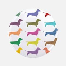"Colorful Dachshunds 3.5"" Button"