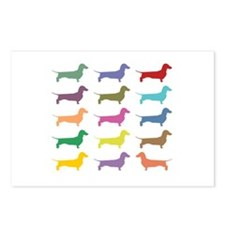 Colorful Dachshunds Postcards (Package of 8)