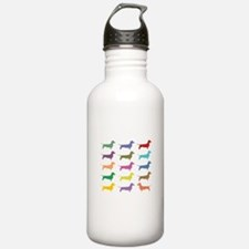 Colorful Dachshunds Sports Water Bottle