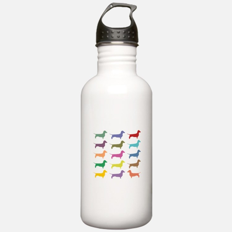 Colorful Dachshunds Water Bottle
