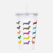 Colorful Dachshunds Acrylic Double-wall Tumbler