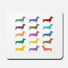 Colorful Dachshunds Mousepad