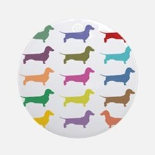Colorful Dachshunds Ornament (Round)