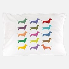 Colorful Dachshunds Pillow Case
