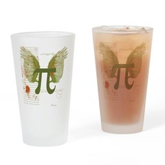 Pi Art Drinking Glass