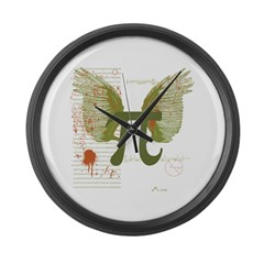 Pi Art Large Wall Clock
