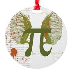Pi Art Round Ornament