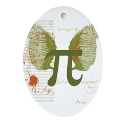 Pi Art Ornament (Oval)