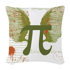 Pi Art Woven Throw Pillow