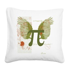Pi Art Square Canvas Pillow