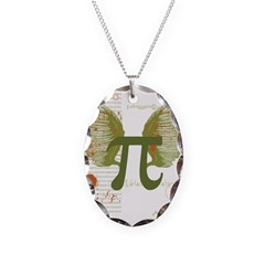 Pi Art Necklace Oval Charm