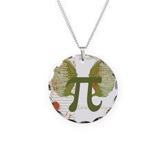 Pi Art Necklace Circle Charm