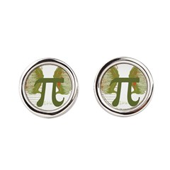 Pi Art Round Cufflinks