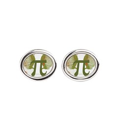 Pi Art Oval Cufflinks