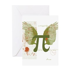 Pi Art Greeting Cards