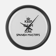 Keep calm and love Spanish Mastif Large Wall Clock