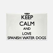 Keep calm and love Spanish Water Dogs Magnets