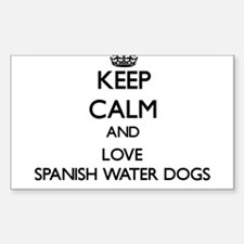 Keep calm and love Spanish Water Dogs Decal