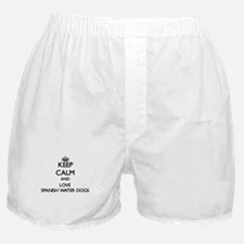 Keep calm and love Spanish Water Dogs Boxer Shorts
