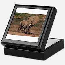 elephants Keepsake Box