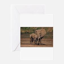 elephants Greeting Cards