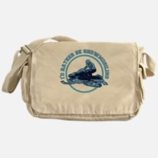 I'd Rather Be Snowmobiling Messenger Bag