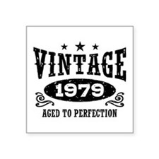 "Vintage 1979 Square Sticker 3"" x 3"""