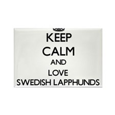 Keep calm and love Swedish Lapphunds Magnets