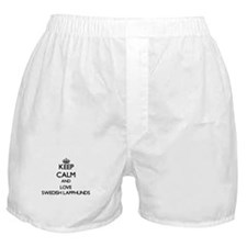 Keep calm and love Swedish Lapphunds Boxer Shorts