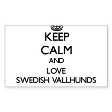 Keep calm and love Swedish Vallhunds Decal