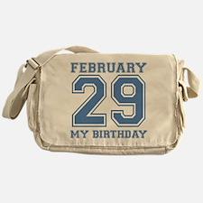 February 29 My Birthday Messenger Bag